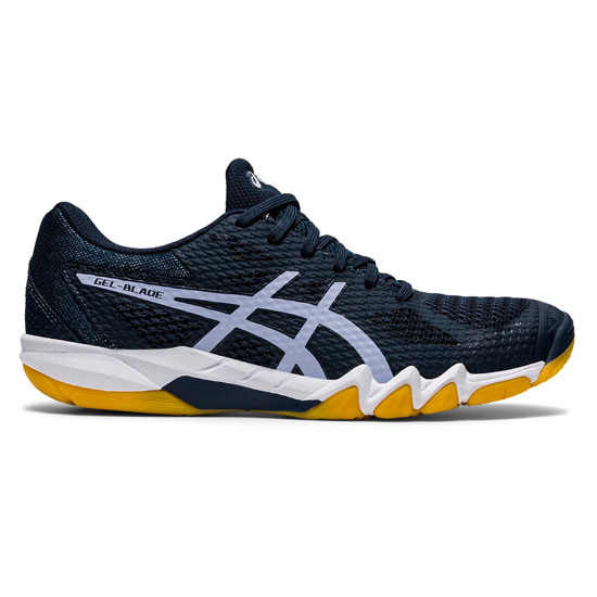 Asics Gel Blade Womens Court Shoes (French Blue-Lilac Opal)