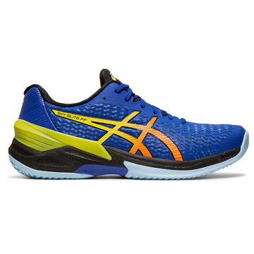 Asics Sky Elite FF Mens Court Shoes (Blue-Sour Yuzu)