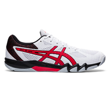 Asics Gel Blade 7 Court Shoes (White-Classic Red)