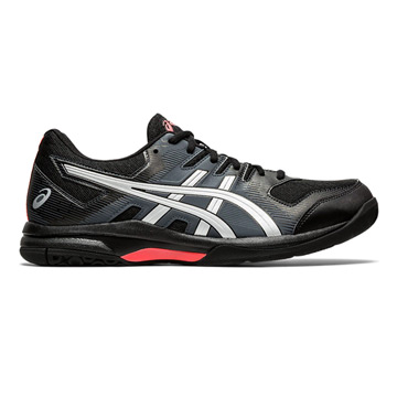 Asics Gel Rocket 9 Mens Court Shoes (Black-Sunrise Red)