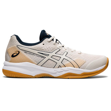 Asics Gel Hunter Womens Court Shoes (Cream)