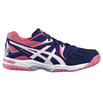 Asics Gel Hunter 3 Womens Court Shoes (Indigo Blue-White-Azalea Pink)