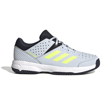 Adidas Court Stabil Junior Court Shoes (Halo Blue-High-Res Yellow-Legend Ink)